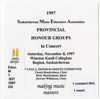 Saskatchewan Music Educators Association provincial honour groups in concert
