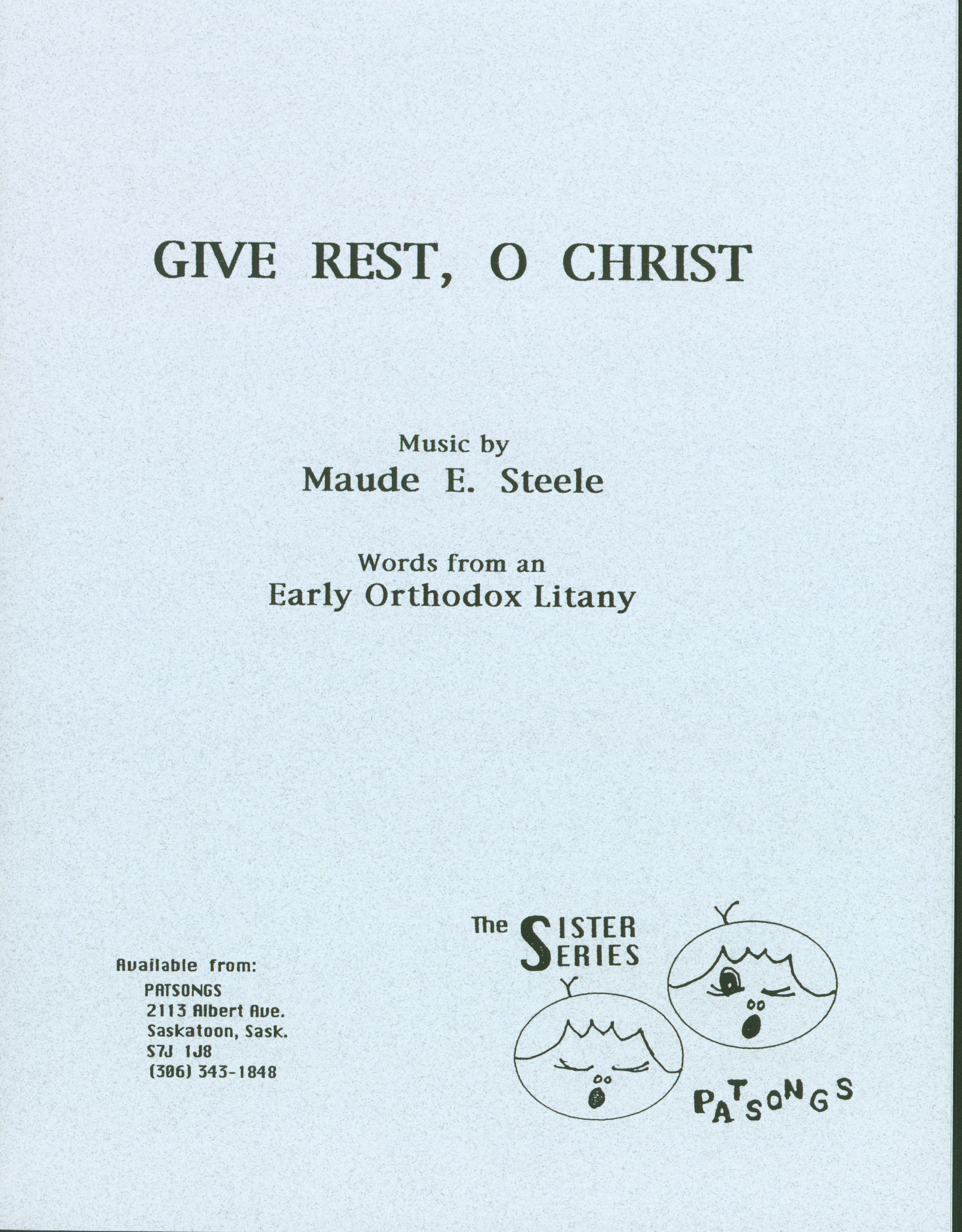Give rest, O Christ